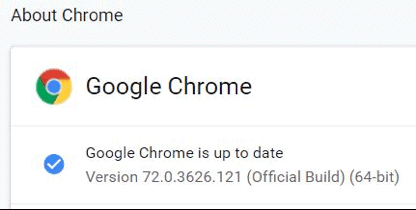 About Google Chrome - Google Chrome is Up to Date